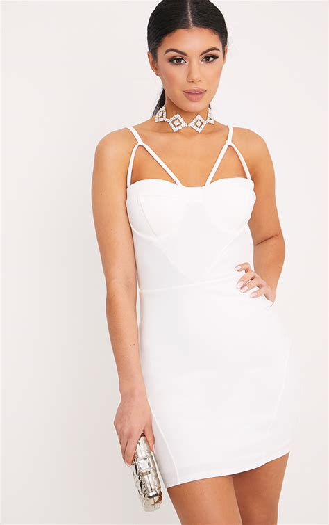 Dress White Pretty prom dresses pretty prom dresses gowns prettylittlething