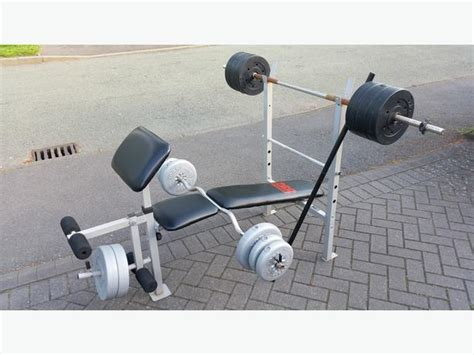 pro power bench press pro power weights bench weights 3 bars walsall sandwell