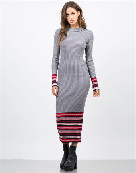 embroidered lobster stripe ankle sock simple accessories and ribbed multi knit maxi dress grey maxi dress stripe