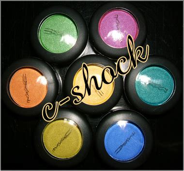 Mac C Shock mac cosmetics c shock collection review swatches and