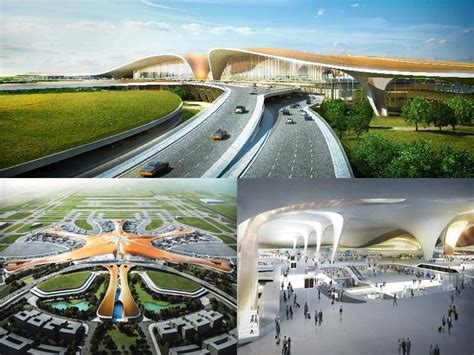 layout of airport terminal building beijing new airport terminal building daxing china zaha