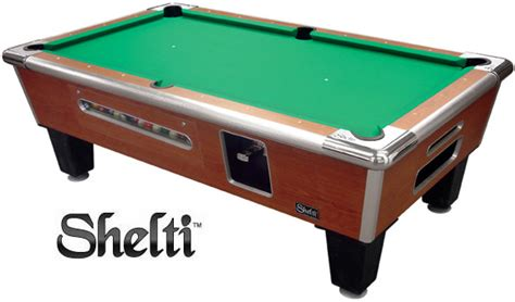 shelti gold standard games coin operated pool table