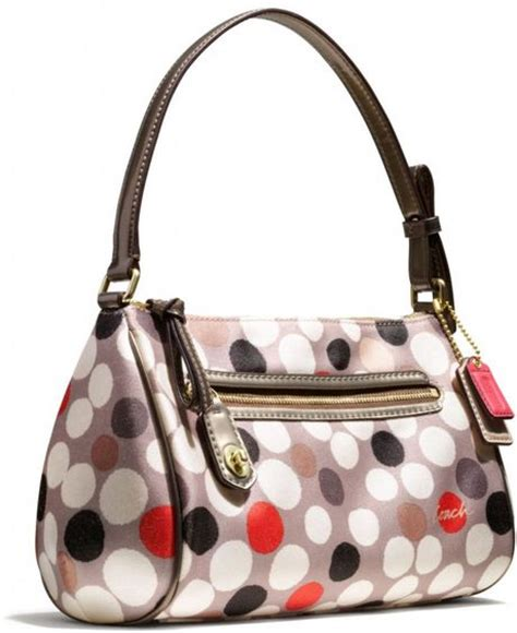 Coach Fragrance Print Top Handle Pouch by Coach Poppy Top Handle Pouch In Watercolor Dot Print