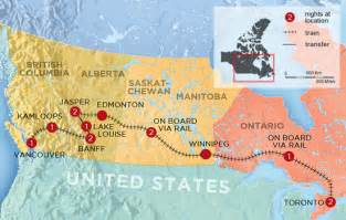 Canada Train Map by Trans Canada Experience By Train