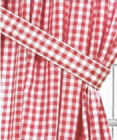 Red Gingham Check Window Long Curtain (available in many