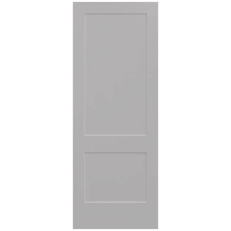 Jeld Wen 36 In X 96 In Smooth 2 Panel Driftwood Solid 96 Interior Doors
