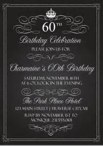 free printable birthday invitation templates for adults crown vintage birthday invitations chalkboard