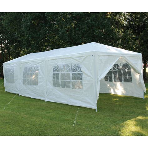 Collapsible Gazebo With Sides by Extra Large Folding White Gazebo With 6 Side Panels 3 X