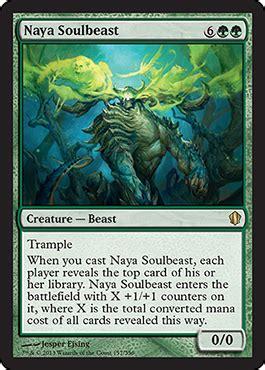 mazzo bestia magic naya soulbeast from commander 2013 spoiler