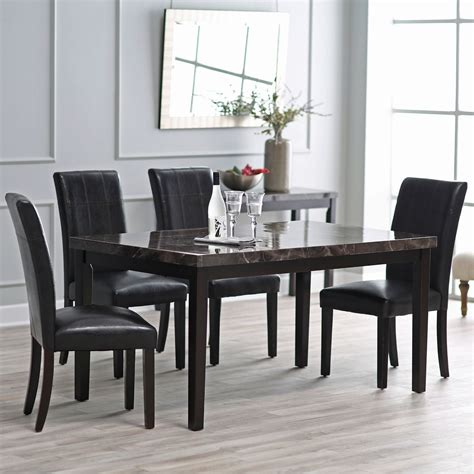 black marble round top modern dining table contemporary x inch dining table with faux marble top on