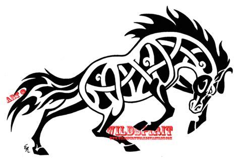 fierce celtic horse tattoo by wildspiritwolf on deviantart