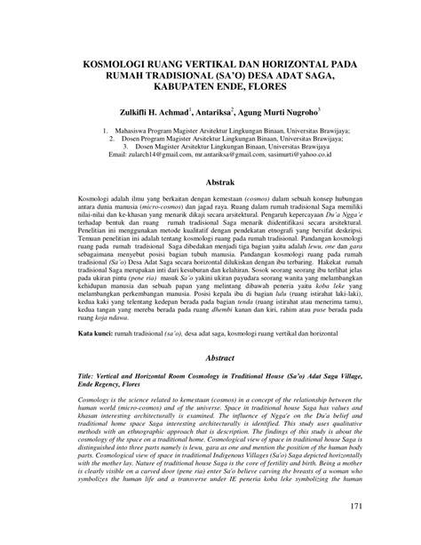 (PDF) KOSMOLOGI RUANG VERTIKAL DAN HORIZONTAL PADA RUMAH
