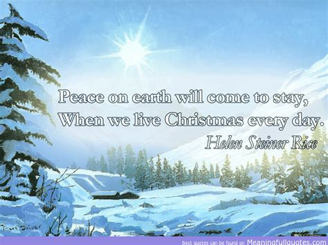peace  earth    stay    christmas  day helen steiner rice