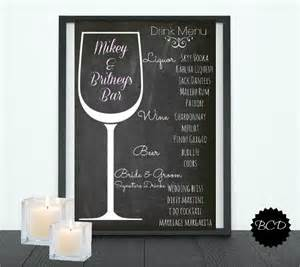 wedding drink menu template free wedding drink menu template free mini bridal