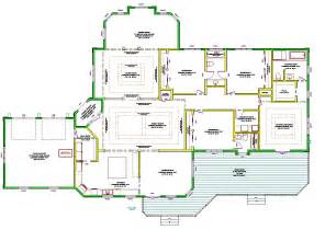 Home Blueprints by Single Story House Plans Design Interior