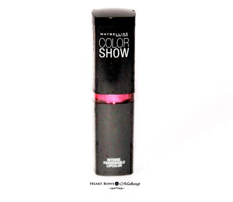 Lipstick Maybelline Color Show maybelline color show lipstick fuchsia flare review swatches price india bows makeup