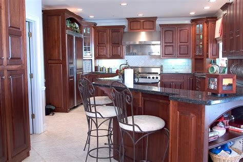 Cherry Kitchen by Cherry Kitchen Cabinets With Nutmeg Finish