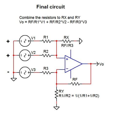 summing with resistors summing design