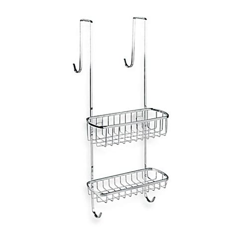 bed bath beyond shower caddy interdesign gia over the shower door shower caddy in