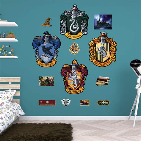 custom fatheads wall stickers hogwarts house sigils wall decal shop fathead 174 for harry