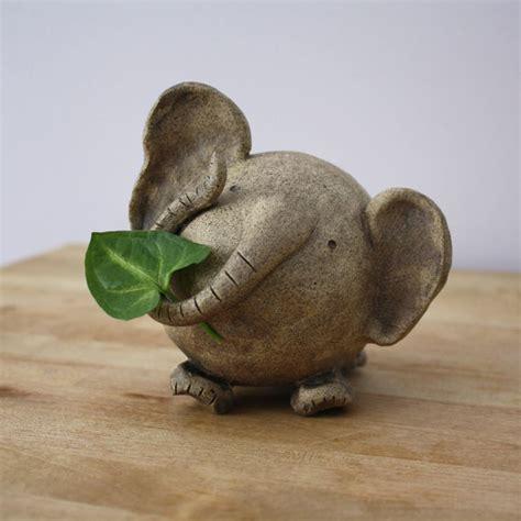Handmade Sculptures - ceramic elephant handmade clay elephant elephant