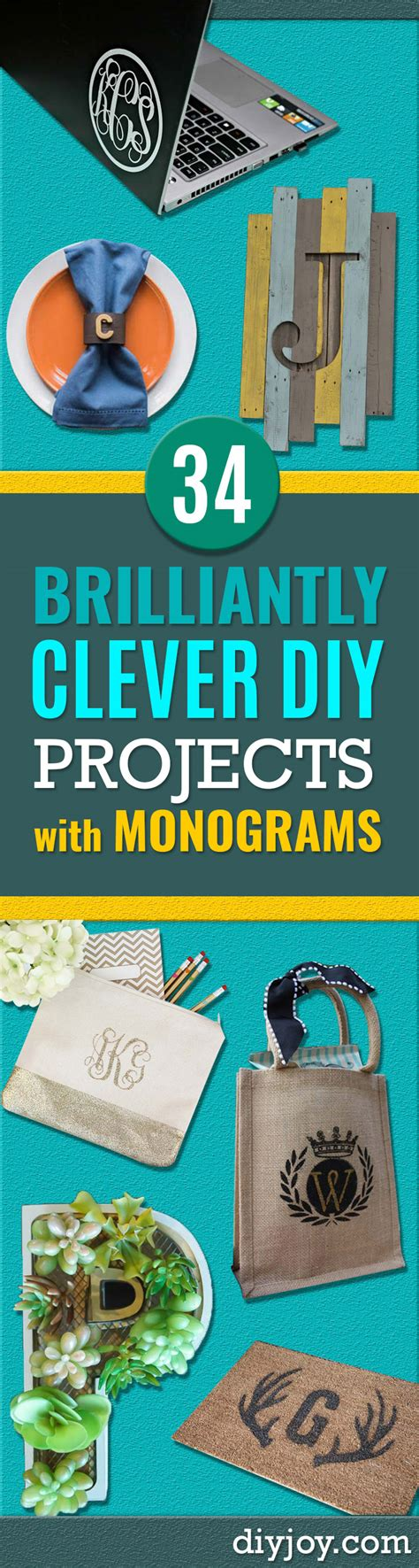 monogram diy projects 34 brilliantly clever diy projects with monograms