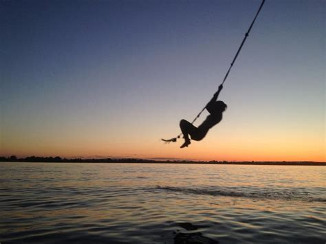 rope swing into lake rope swing into the lake beenthere donethat