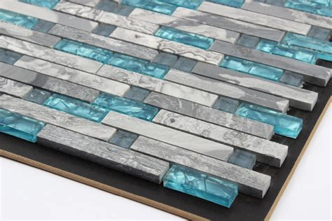 blue mosaic tile backsplash blue glass tile kitchen backsplash tile grey stone mosaic