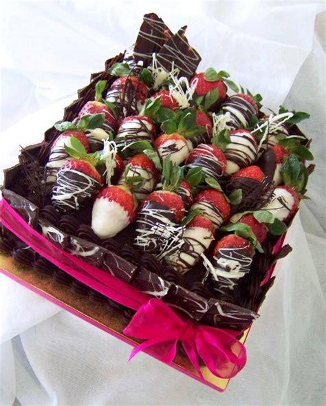 Chocolate Shard Cake Decorations by 8 Square Chocolate Mudcake With Ganache Choc Shards And Chocolate Dipped Strawberries