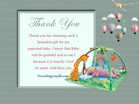 Baby Shower Gift Thank You Cards by Thank You Messages For Baby Shower Messages And Gifts