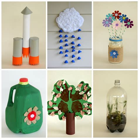 earth day recycled crafts craftshady craftshady