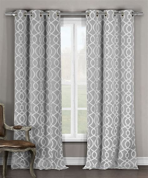 grey pattern grommet curtains another great find on zulily gray harris blackout