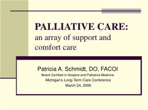 comfort care medications ppt emergencies in palliative medicine powerpoint