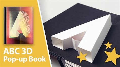 how to make a pop up book report abc3d pop up book a real abc in 3d