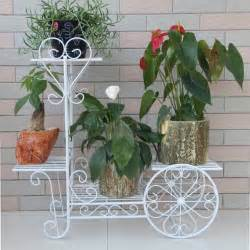 iron flower stands balcony flower pot holder white or black iron vase stand with wheels multi