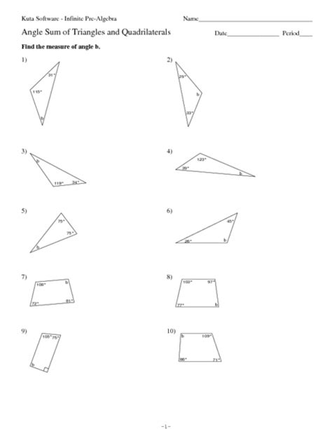 Angles Of Triangles Worksheet by Worksheets Triangle Angle Sum Theorem Worksheet
