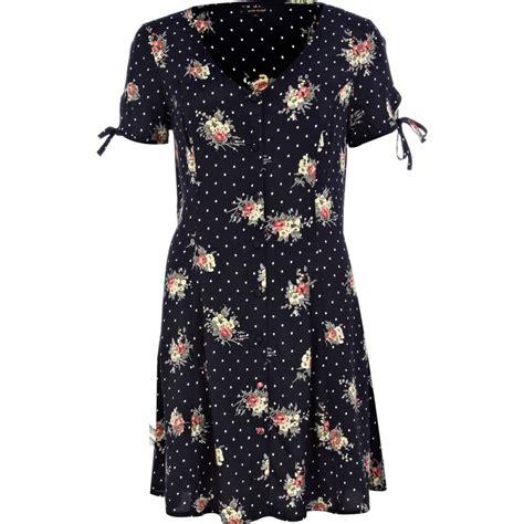 Navy Polka Dress navy polka dot floral tea dress dresses sale