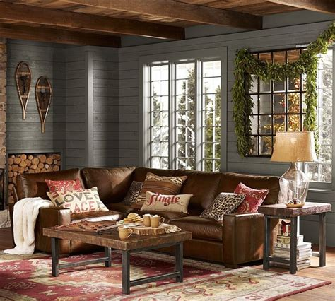 rustic living room set pottery barn