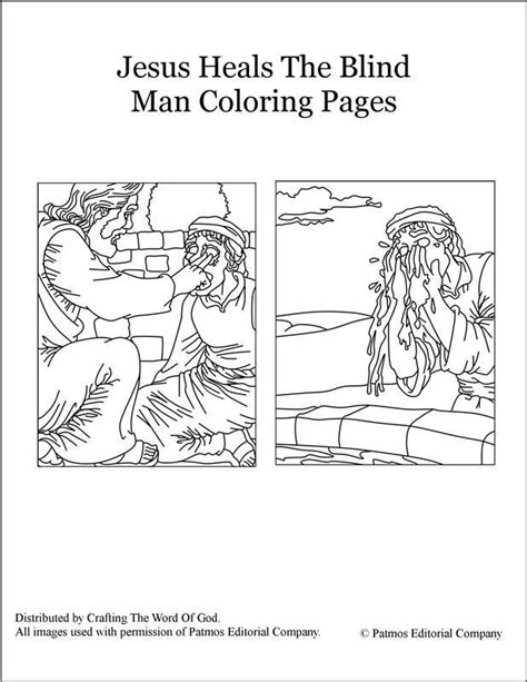 coloring page jesus heals blind 17 best images about sunday school k 1 class on