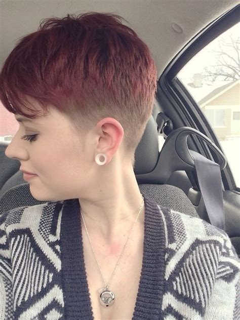 pixie haircut with a clipper womens clipper haircuts faded color and cut short