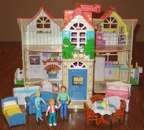fisher price doll houses fisher price sweet street country dollhouse w furniture