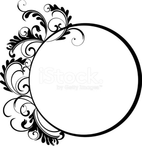 circle floral frame vii stock vector freeimages com