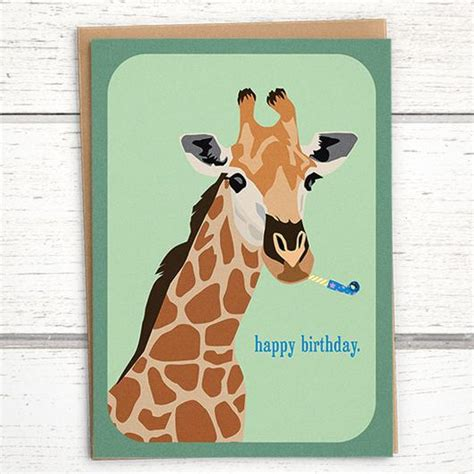 printable birthday cards with giraffes giraffe quot happy birthday quot card giraffe birthday card