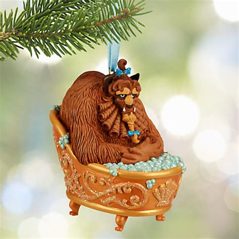 bathtub christmas ornament disney store 2015 sketchbook glitter beast hot tub christmas ornament new box ebay