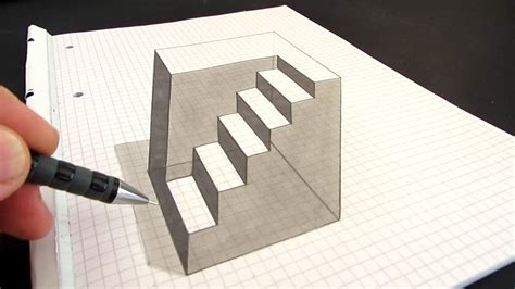 How To Make Optical Illusions On Paper - how to draw an anamorphic cube amazing optical illusion