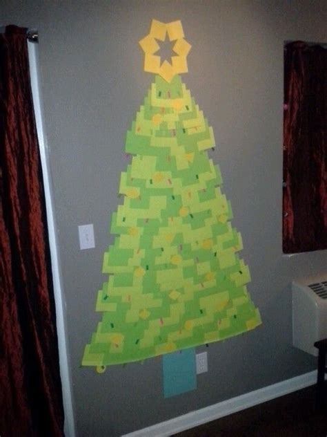 post it christmas tree sticky note tree i dig it simple and tree