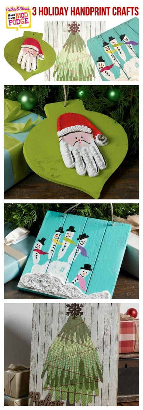 3 holiday handprint craft ideas for the whole family