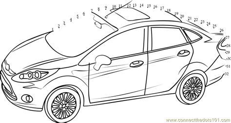 printable dot to dot cars ford fiesta car dot to dot printable worksheet connect