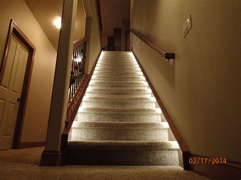 banister lights ideas of lighting for the home illuminate the staircase