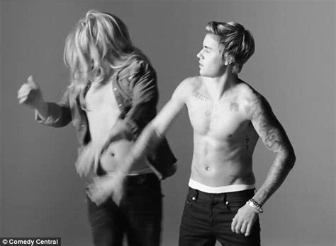 justin bieber tattoo roasted real jeffrey ross taunts justin bieber in calvin klein spoof to